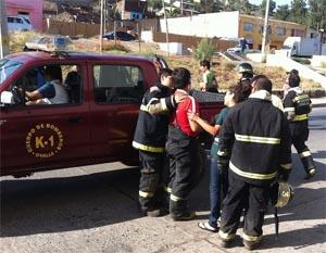 Cuatro bomberos lesionados en combate a incendio