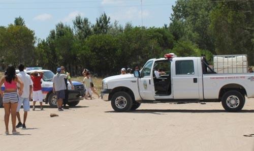 Atacan a camión de bomberos de Villa Gesell, que protagonizó un accidente