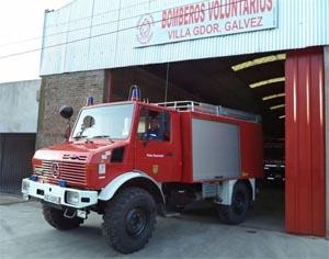 Bomberos Voluntarios de Villa Gobernador Gálvez adquirió una autobomba forestal