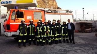 Bomberos Voluntarios de Valle Gran Rey reciben equipamientos donados por un colectivo de Suiza