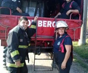Marina, la bombera voluntaria que le ganó a la muerte varias veces