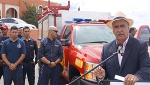 Entrega el Alcalde unidad de rescate rápido al Departamento Bomberos