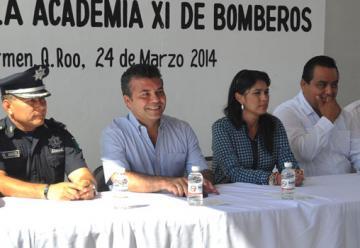 "Inauguran la ""Academia XI de bomberos"" en Playa del Carmen"
