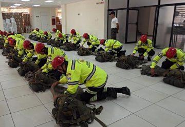Asonbomd presenta primera unidad de bomberos paracaidistas