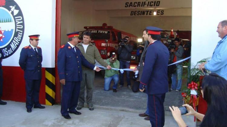 Inauguración del destacamento Nº2 de Mar del Tuyu