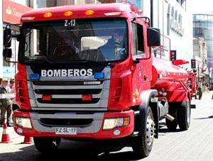 Entregan camión aljibe para el Cuerpo de Bomberos de Temuco