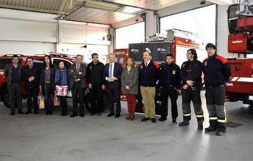 El Parque de Bomberos de Nájera cuenta con un nuevo vehículo contra incendios