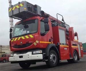 Con arco de agua fue recibido nuevo carro de bomberos