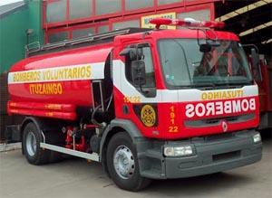Bomberos Voluntarios de Ituzango incorpora nueva cisterna