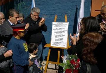 Homenaje a los bomberos fallecidos en Barracas