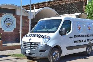 La Sociedad de Bomberos Voluntarios de Añatuya tiene nueva ambulancia