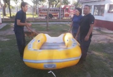 Bomberos Voluntarios de Barranqueras, con gomón nuevo
