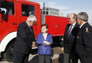 La Diputación cede a Calpe un camión de bomberos