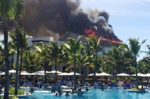Incendio consume restaurante del hotel Hard Rock, de Bávaro