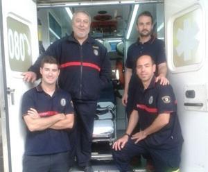 Da a luz en la ambulancia de los bomberos de Sevilla