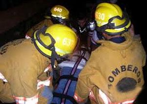 Bombero resulta con quemaduras en sus brazos tras atender incendio en Guápiles