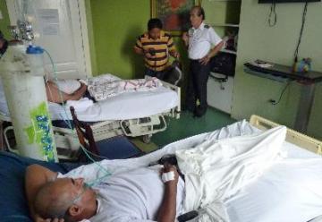 La fuga de amoniaco afectó a cuatro bomberos