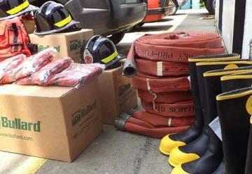 Bomberos del estado Trujillo recibió dotación de equipos