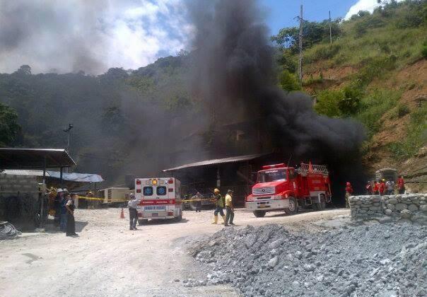 Incendio en mina de Portovelo