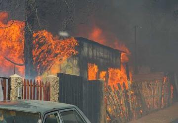 La destrucción causada por incendio en Valparaíso
