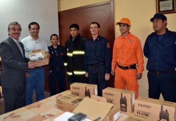 Bomberos Voluntarios de La Banda, cuentan con nuevos equipos de comunicaciones