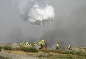 División de bomberos especializada en incendios forestales