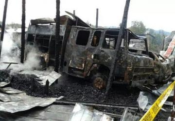 Incendio arrasó con cuartel de Bomberos en Los Lleuques