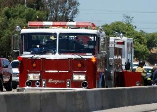 Chocan dos camiones de bomberos en Delicias
