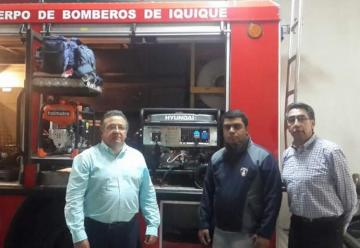 El Rotary Club de Iquique entregó una importante donación a Bomberos