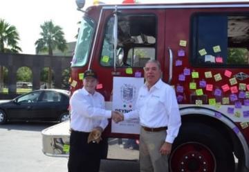 Dona la ciudad de McAllen camión de Bomberos a Reynosa