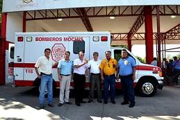 Bomberos de Los Mochis reciben una nueva ambulancia