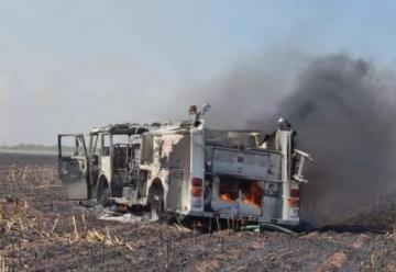 Se quema unidad de Bomberos de Guasave