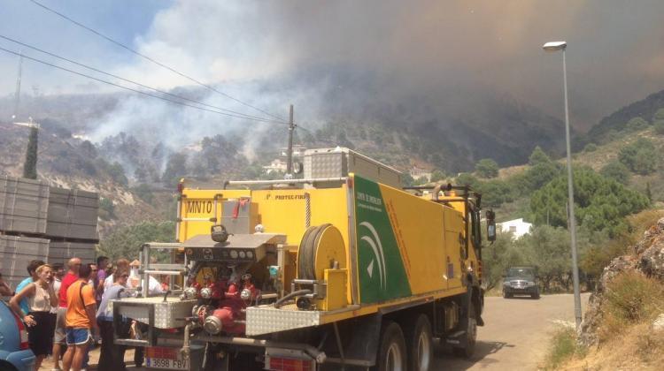 Bomberos se salvó de las llamas por un sistema de geolocalización