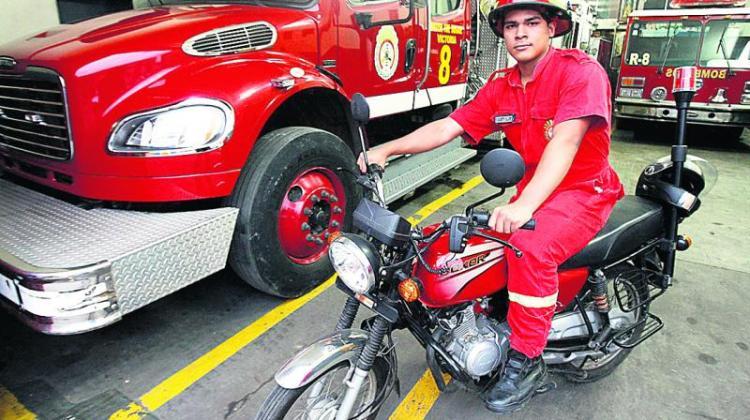 Bomberos irán a las emergencia médica en motocicletas