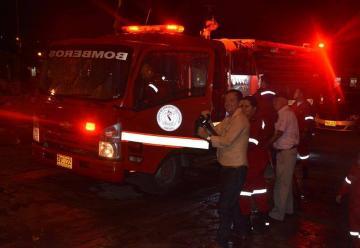 El Municipio Zapatoca ya cuenta con carro de Bomberos