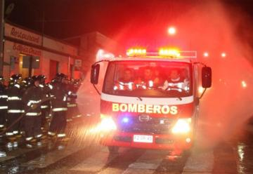 """Bomberos de Cartagena """"bautizó"""" su nuevo carro de rescate"""