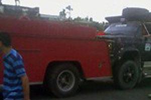 Susto y daños materiales dejó el descuido de los bomberos