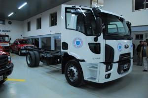 Bomberos de Pringles presento un nuevo camión O Km