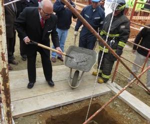 Colocan la primera Piedra del nuevo cuartel de 3ra Cia. de Bomberos de Curanilahue