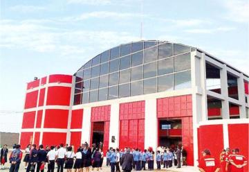 Inauguran local de futura compañía de Bomberos en Monsefú
