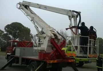 Bomberos de Azul tiene un camión hidroelevador