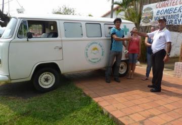 Bomberos Azules de Pirayú recibió una ambulancia