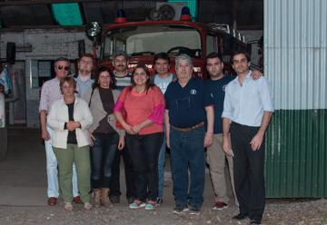 Entrega de un subsidio a Bomberos Voluntarios de Lima