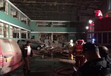 Fuerte explosión se produjo en complejo policial