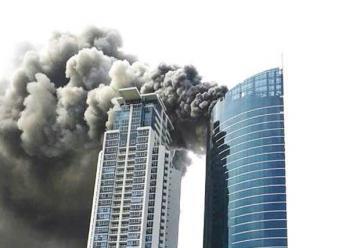 Fuego en rascacielos en construcción en Panamá