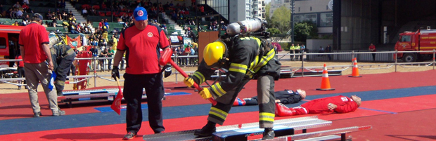 El Encuentro Internacional de Bomberos convocó a más de 400 bomberos de varios países