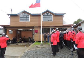 Bomberos de Huillinco inauguró las obras del nuevo cuartel