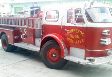 Un camión de Bomberos se vio involucrado en un accidente