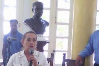 Maritza Peña, es la primera mujer jefa de los bomberos