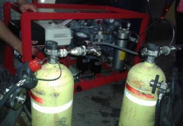 Bomberos de Baradero adquirió un compresor de aire comprimido